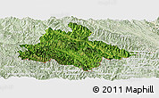 Satellite Panoramic Map of Song Ma, lighten