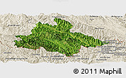 Satellite Panoramic Map of Song Ma, shaded relief outside