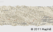 Shaded Relief Panoramic Map of Song Ma