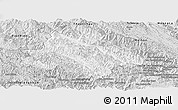 Silver Style Panoramic Map of Song Ma