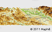 Physical Panoramic Map of Thuan Chau