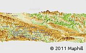 Physical Panoramic Map of Yen Chau