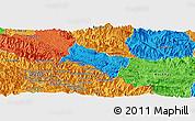 Political Panoramic Map of Yen Chau