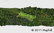 Satellite Panoramic Map of Yen Chau, darken