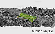 Satellite Panoramic Map of Yen Chau, desaturated