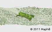 Satellite Panoramic Map of Yen Chau, lighten