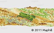 Satellite Panoramic Map of Yen Chau, physical outside
