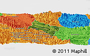 Satellite Panoramic Map of Yen Chau, political outside