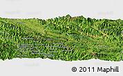 Satellite Panoramic Map of Yen Chau