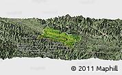 Satellite Panoramic Map of Yen Chau, semi-desaturated
