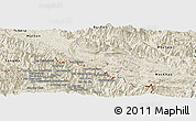 Shaded Relief Panoramic Map of Yen Chau