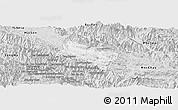 Silver Style Panoramic Map of Yen Chau