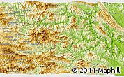 Physical 3D Map of Quan Hoa