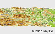 Physical Panoramic Map of Quan Hoa