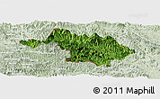 Satellite Panoramic Map of Quan Hoa, lighten