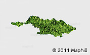 Satellite Panoramic Map of Quan Hoa, single color outside