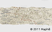 Shaded Relief Panoramic Map of Quan Hoa