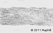 Silver Style Panoramic Map of Quan Hoa