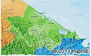 Political Shades 3D Map of Thua Thien-Hue