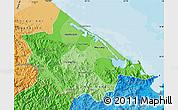 Political Shades Map of Thua Thien-Hue