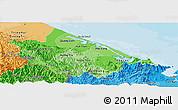 Political Shades Panoramic Map of Thua Thien-Hue