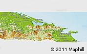 Physical Panoramic Map of Phu Loc