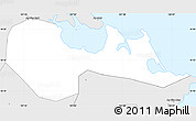 Silver Style Simple Map of Phu Loc