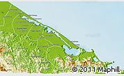 Physical 3D Map of Phu Vang