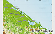 Physical Map of Phu Vang