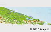Physical Panoramic Map of Phu Vang
