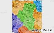 Political Shades 3D Map of Tuyen Quang