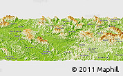 Physical Panoramic Map of Chiem Hoa