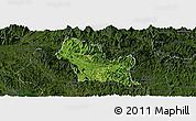 Satellite Panoramic Map of Chiem Hoa, darken