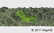 Satellite Panoramic Map of Chiem Hoa, semi-desaturated
