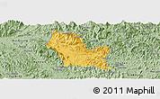 Savanna Style Panoramic Map of Chiem Hoa