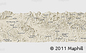 Shaded Relief Panoramic Map of Chiem Hoa