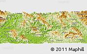 Physical Panoramic Map of Na Hang
