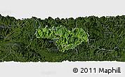 Satellite Panoramic Map of Na Hang, darken