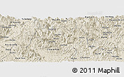 Shaded Relief Panoramic Map of Na Hang