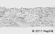 Silver Style Panoramic Map of Na Hang