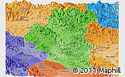 Political Shades Panoramic Map of Tuyen Quang