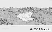Gray Panoramic Map of Son Duong