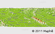 Physical Panoramic Map of Son Duong