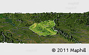Satellite Panoramic Map of Son Duong, darken