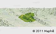 Satellite Panoramic Map of Son Duong, lighten