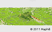 Satellite Panoramic Map of Son Duong, physical outside
