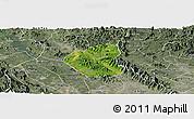 Satellite Panoramic Map of Son Duong, semi-desaturated