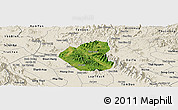 Satellite Panoramic Map of Son Duong, shaded relief outside
