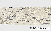 Shaded Relief Panoramic Map of Son Duong