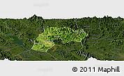 Satellite Panoramic Map of Yen Son, darken